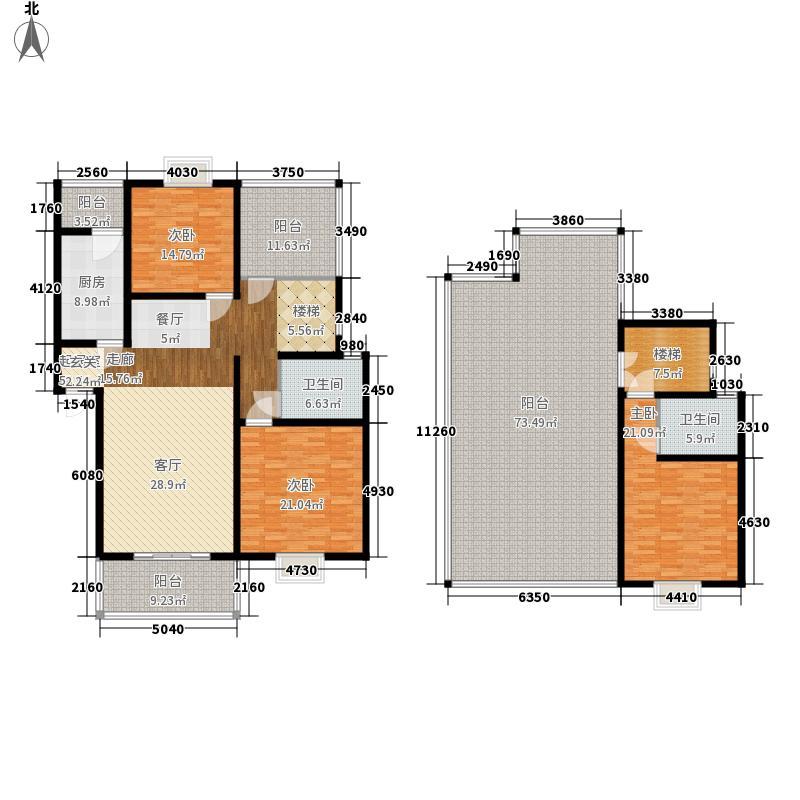 西华阳光134.97㎡C跃户型3室2厅2卫1厨