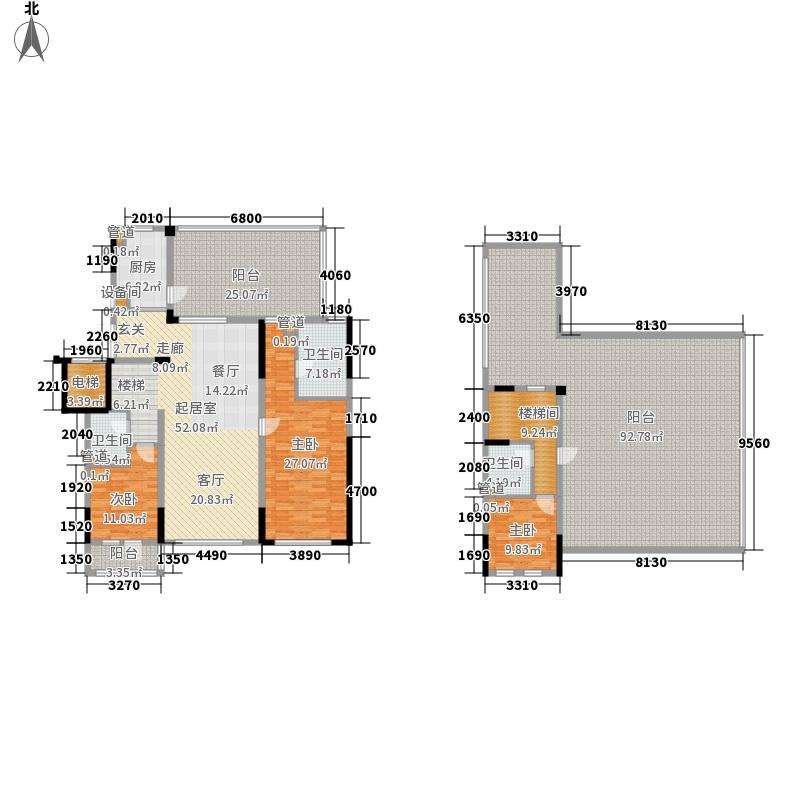 中粮・隆玺世家156.00㎡中粮・隆玺世家户型图7号楼厅层01户型3室2厅3卫户型3室2厅3卫