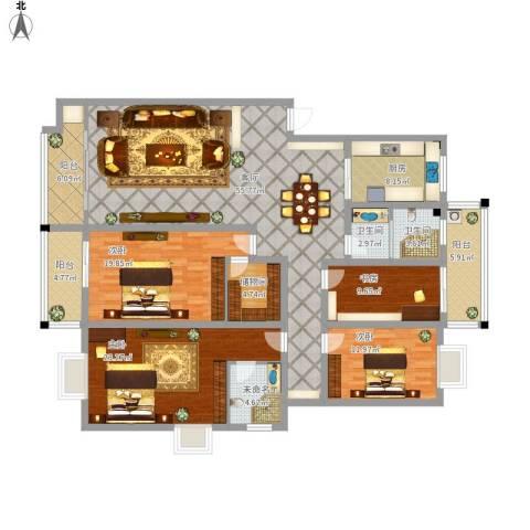 新星小区4室1厅2卫1厨232.00㎡户型图
