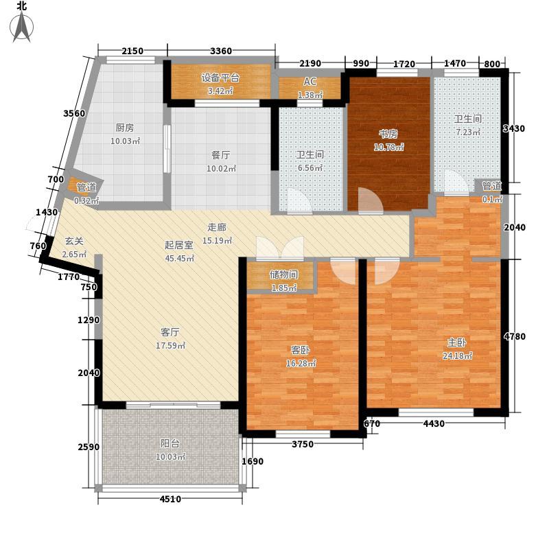 晋合金桥世家144.00㎡晋合金桥世家户型图一期A3户型3室2厅2卫1厨户型3室2厅2卫1厨