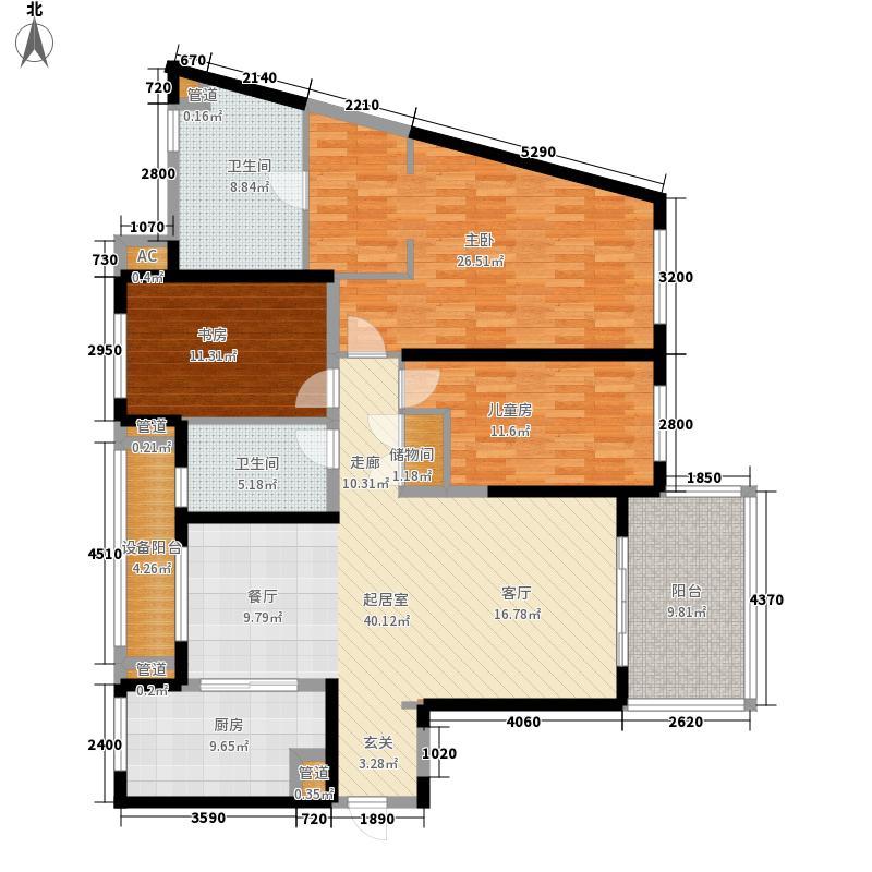 晋合金桥世家147.00㎡晋合金桥世家户型图一期B3户型3室2厅2卫1厨户型3室2厅2卫1厨