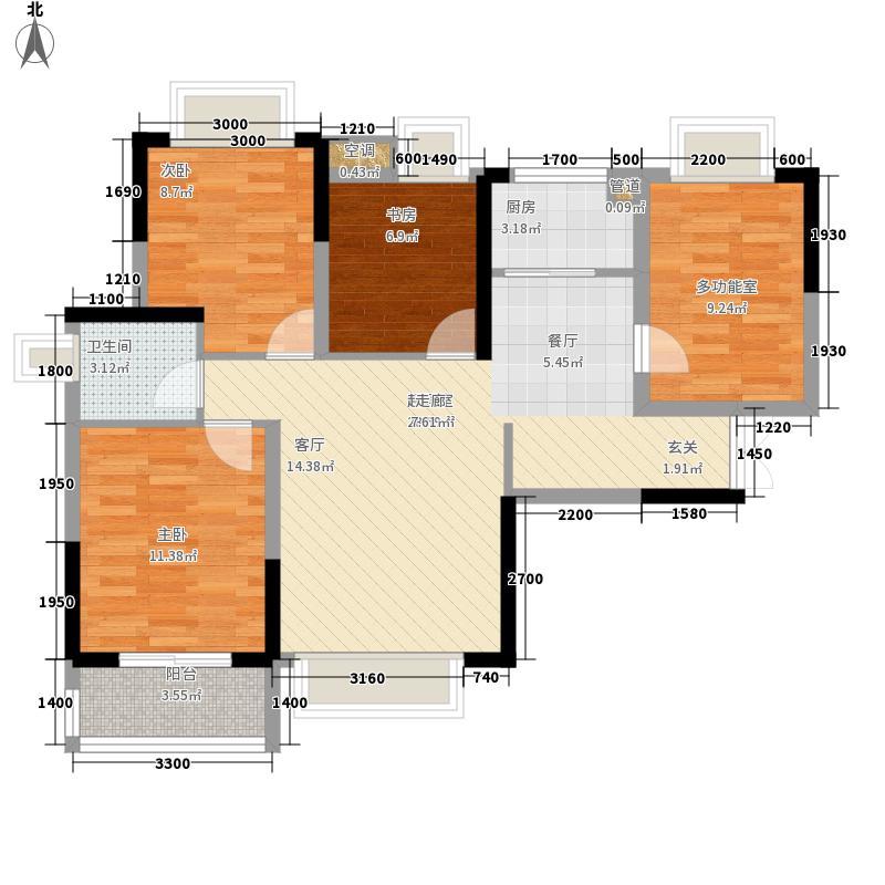 力高国际城89.00㎡五期11#楼A1改造后户型