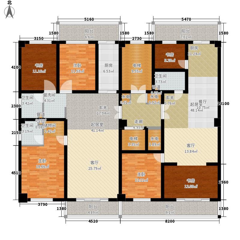 怡华苑115.17㎡怡华苑户型图3室2厅1卫户型10室