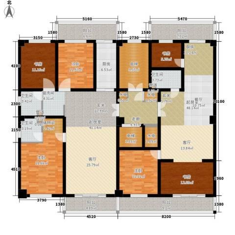怡华苑5室0厅3卫1厨215.88㎡户型图