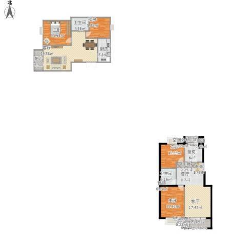 上海沙龙4室2厅2卫2厨195.00㎡户型图