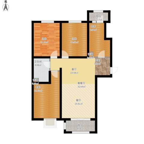 悦澜湾3室1厅1卫1厨128.00㎡户型图