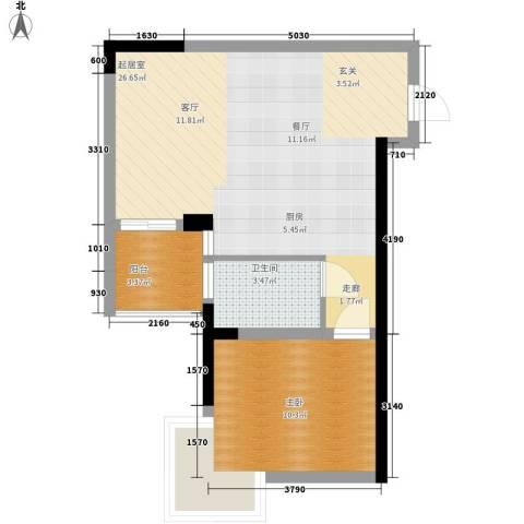 童话里二期1室0厅1卫0厨56.00㎡户型图