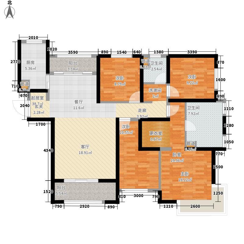 深汇仕府大院149.21㎡35号楼E1户型2室2厅2卫2厨