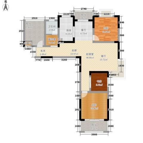 博威香槟小镇3室0厅1卫1厨129.00㎡户型图
