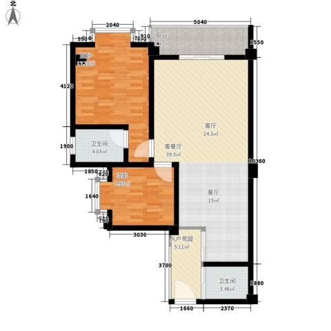 万家乐泰和楼2室1厅2卫0厨98.00㎡户型图