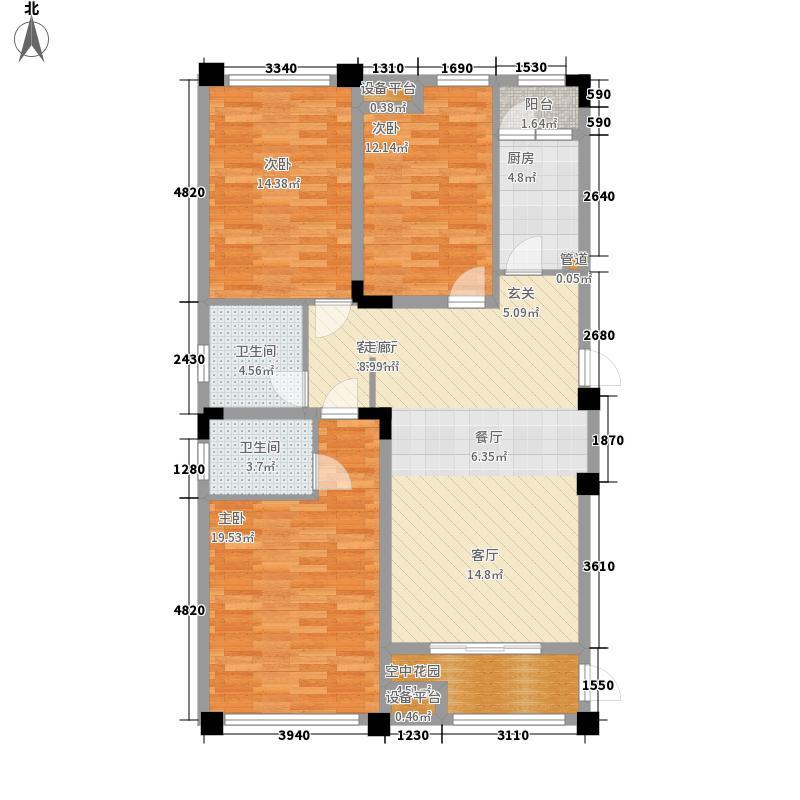 森迪时代广场135.00㎡一期1号楼标准层C户型