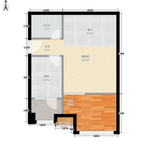苏荷时代1室0厅1卫1厨64.00㎡户型图