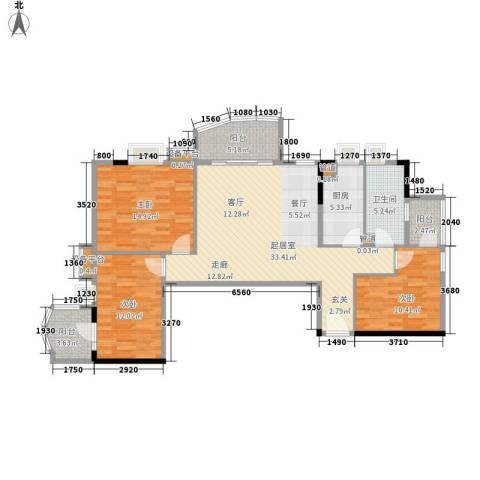 德雅轩3室0厅1卫1厨105.00㎡户型图