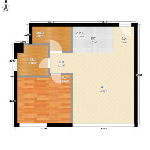 苏荷时代1室0厅1卫1厨67.00㎡户型图