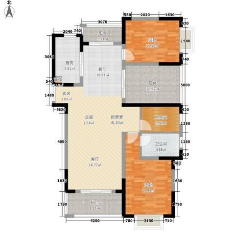 博威香槟小镇2室0厅2卫1厨128.00㎡户型图