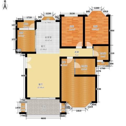 银丽高尔夫别墅3室0厅2卫1厨139.00㎡户型图