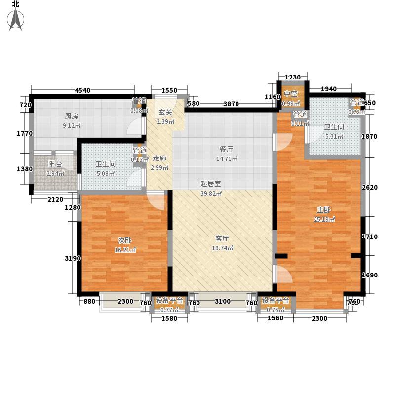 徐汇苑120.00㎡三期D3户型2室2厅