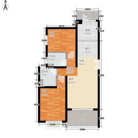 BOBO自由城一期2室0厅2卫1厨104.00㎡户型图