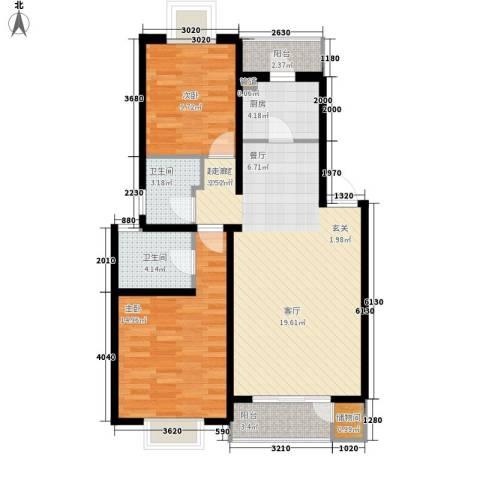 BOBO自由城一期2室0厅2卫1厨105.00㎡户型图