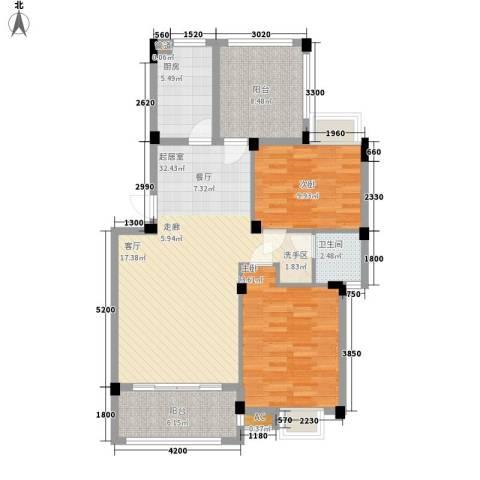 新宇拉菲公馆2室0厅1卫1厨91.00㎡户型图
