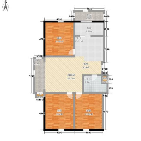 大众花园二期3室0厅1卫1厨132.00㎡户型图
