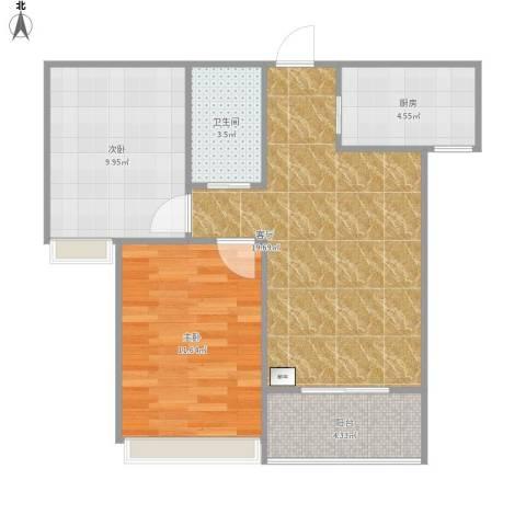 北京人家2室1厅1卫1厨73.00㎡户型图