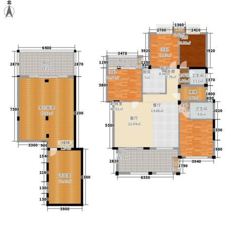 新宇拉菲公馆4室0厅2卫1厨225.02㎡户型图