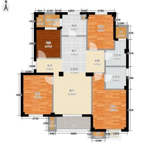 伊顿华府4室0厅2卫1厨118.00㎡户型图