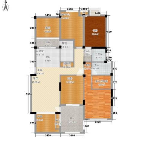 新宇拉菲公馆3室0厅2卫1厨146.30㎡户型图