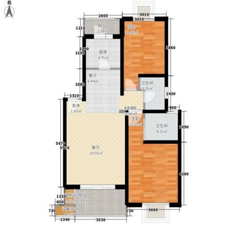 BOBO自由城一期2室0厅2卫1厨112.00㎡户型图