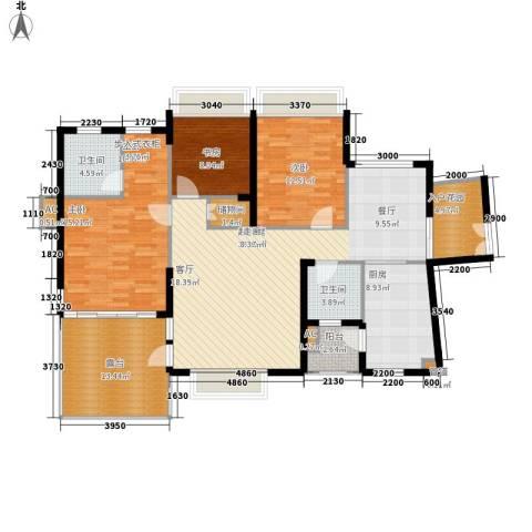 金龙国际花园3室0厅2卫1厨164.00㎡户型图