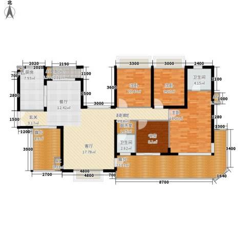 金龙国际花园4室0厅2卫1厨198.00㎡户型图