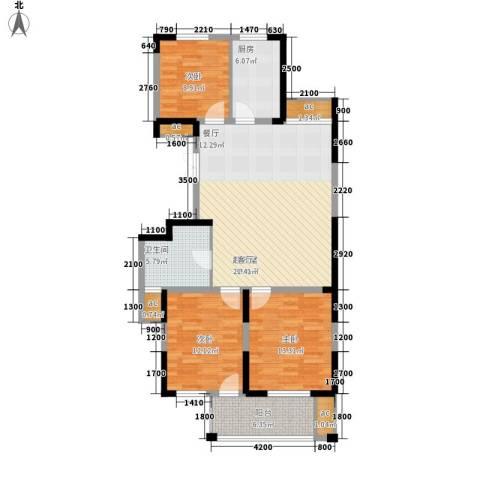 锦江半岛3室0厅1卫1厨116.00㎡户型图