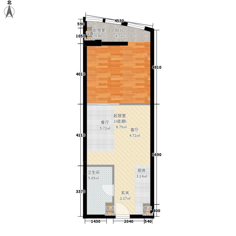 新亚大厦57.51㎡新亚大厦户型图1室1厅1卫1厨户型10室