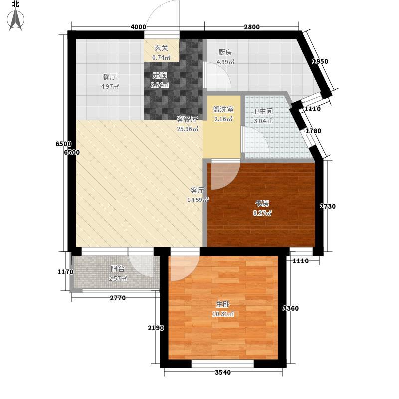 远洋自然77.00㎡远洋自然户型图11号楼B户型2室2厅1卫1厨户型2室2厅1卫1厨