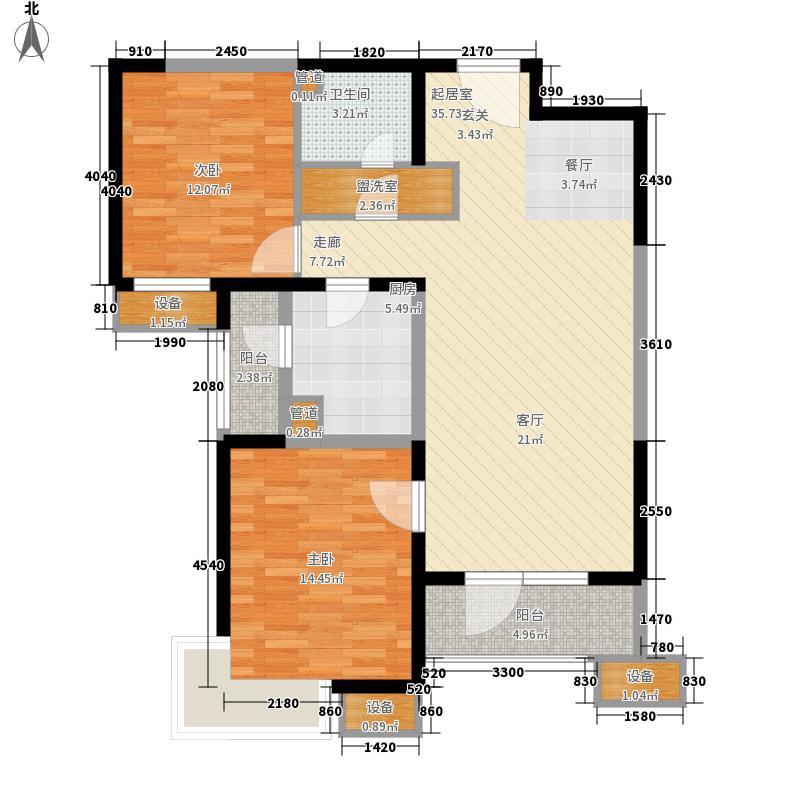 天津湾海景文苑113.00㎡1、10号楼标准层A2户型