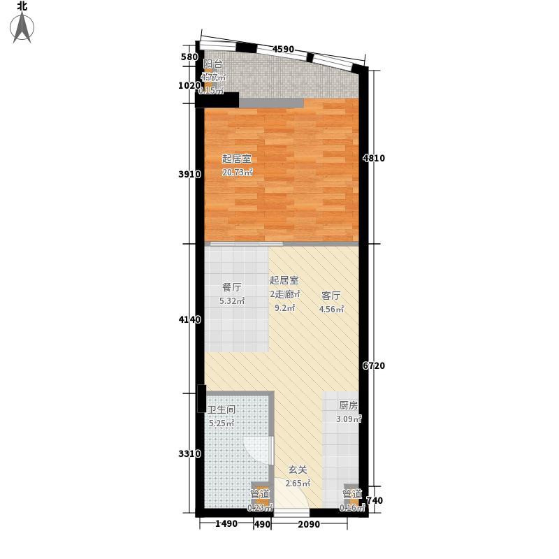 新亚大厦57.69㎡新亚大厦户型图1室1厅1卫1厨户型10室