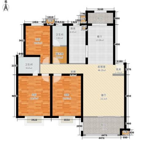 塘贝新苑3室0厅2卫1厨140.00㎡户型图