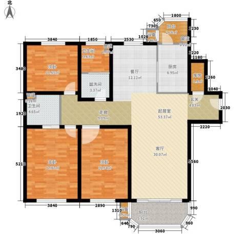 北京太阳城3室0厅2卫1厨148.00㎡户型图