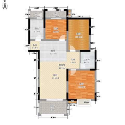 鸿兴苑小区2室0厅1卫1厨134.00㎡户型图