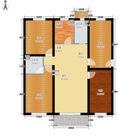 金美程家园3室0厅3卫0厨119.00㎡户型图