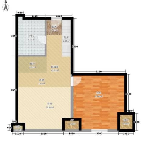 天津环球金融中心1室0厅1卫0厨87.00㎡户型图