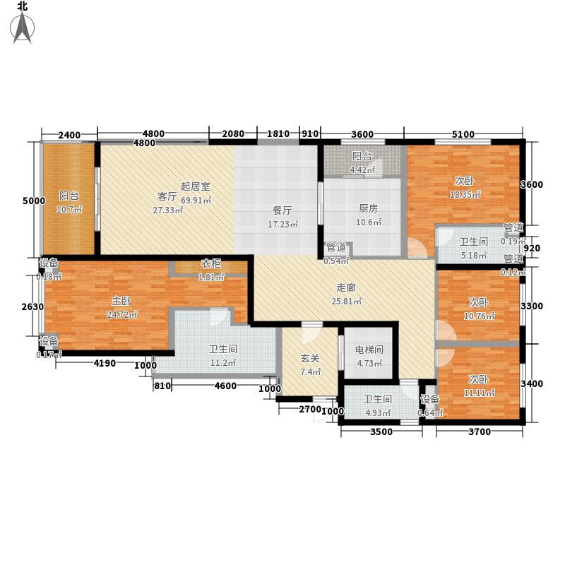 星耀壹品189.00㎡16号楼标准层02号房户型