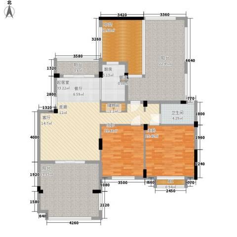 新宇拉菲公馆2室0厅1卫1厨130.57㎡户型图