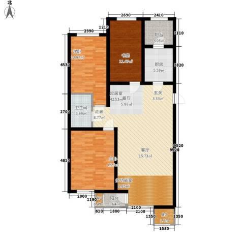 碧波康桥3室0厅1卫1厨116.00㎡户型图