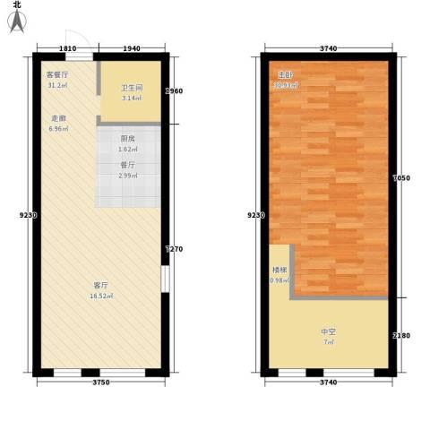 星城国际1室1厅0卫0厨62.13㎡户型图