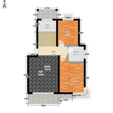 金桥慧景2室0厅1卫1厨83.00㎡户型图