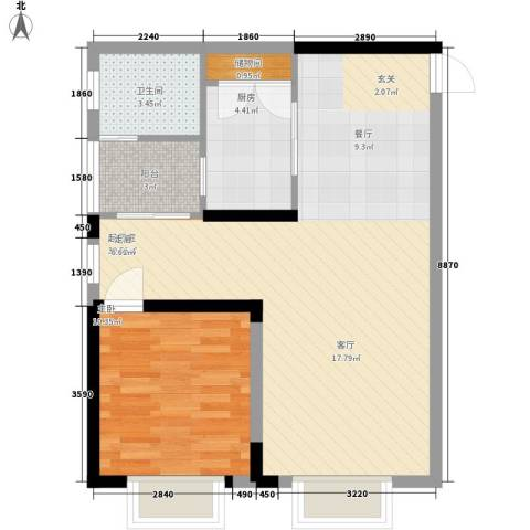 童话里二期1室0厅1卫1厨80.00㎡户型图