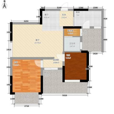 童话里二期2室0厅1卫1厨89.00㎡户型图