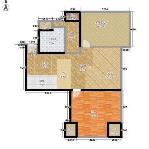 天津环球金融中心1室0厅1卫0厨128.00㎡户型图